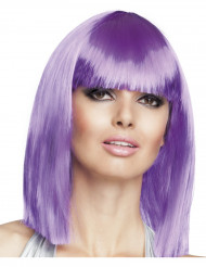 Violett halvlong peruk för vuxna