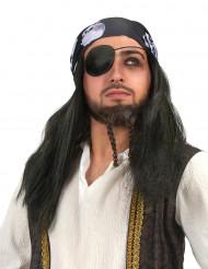Piratperuk med huvudduk
