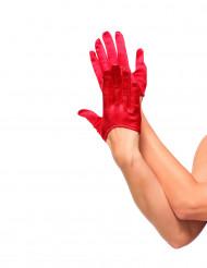 Röda mini-handskar dam