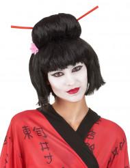 Geisha-inspirerad peruk för vuxna
