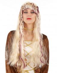 Jungfrun - Blond medeltidsperuk för vuxna