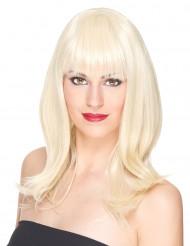 Lyxig halvlång blond peruk - 170 g