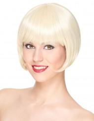 Lyxig kort blond peruk