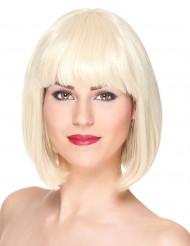 Lyxig kort blond bobfrisyr - Peruk med lugg för vuxna