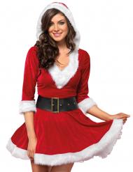 Kort röd juelklänning för vuxna