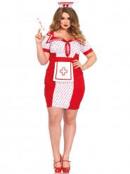 Het sjuksköterskedräkt för större vuxna