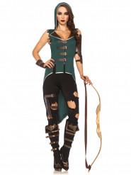 Maskeraddräkt rebellisk skogskvinna
