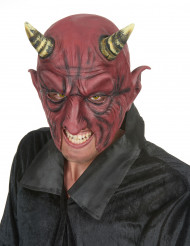 Demon  Halvmask  i Latex Halloween Vuxen