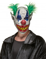 Gräslig clownmask i latex för vuxna till Halloween