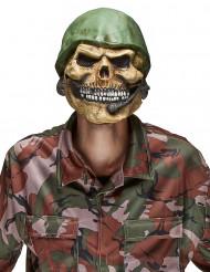Soldatsdöskallemask i Latex Halloween Vuxen