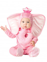 Rosa elefantdräkt Bebis - Klassisk