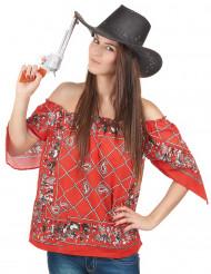 Cowboy t-skjorta för vuxana till maskeraden
