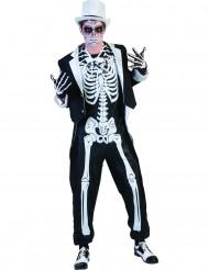 Elegant skelett - utklädnad vuxen Halloween