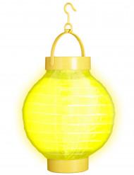 Gul lykta med LED-ljus 15 cm