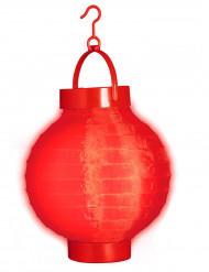 Lykta med rött ljus 15cm