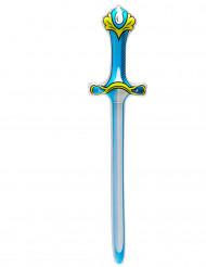 Uppblåsbart Blått Svärd i Plast 77 cm