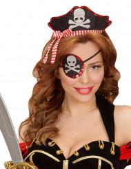 Sexigt piratdiadem och ögonlapp vuxen