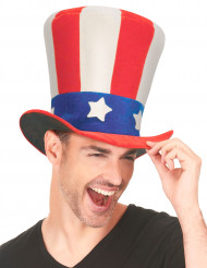 Uncle Sam - Hög cylinderhatt för vuxna