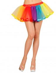 Regnbågen - Flerfärgad tyllkjol för vuxen