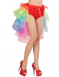 Flerfärgad burlesque tyllkjol vuxen