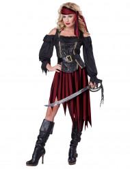 Kvinnlig piratdräkt Vuxen