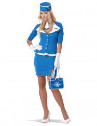 Blå flygvärdinna - utklädnad vuxen