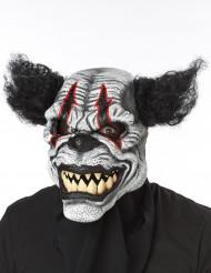 Skrämmande clown - Halloweenmask för vuxna