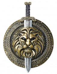 Gladiatorsköld och svärd