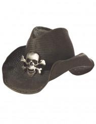 Cowboyhatt med döskalle