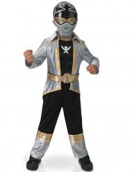 Maskeraddräkt silver 3D EVA Power Rangers™ barn