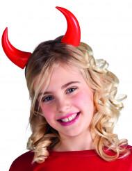 Röda horn barn Halloween