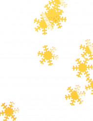 Guldfärgade snöflingor 45 g Jul