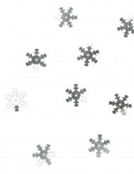Silverfärgad konfetti snöflingor 10 gram