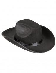 Svart klassisk cowboyhatt - Maskeradkläder för vuxna
