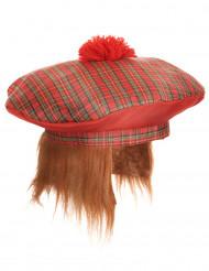 Skotsk basker med pompong för vuxna