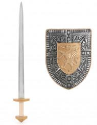 Sköld och svärd i plast - Riddarkit för barn till kalaset