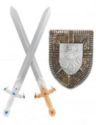 Sköld och 2 svärd barn