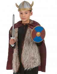 Vikingkit: svärd, sköld, cape för barn