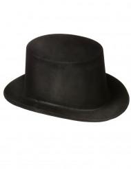 Svart cylinderhatt - Maskeradhatt för vuxen