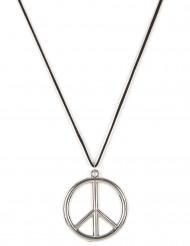 Hippie-halsband i metall vuxen