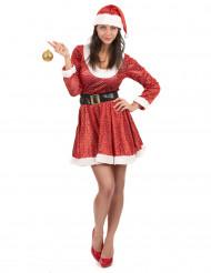 Tomtemor med paljetter - Juldräkt för vuxna