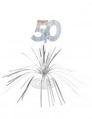 Bordsdekoration till 50-årsfesten