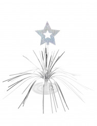 Bordsdekoration med silverstjärna