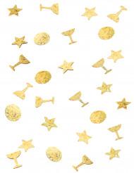 Guldkonfetti trio