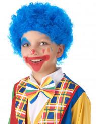 Blå clownperuk barn