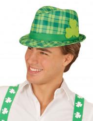 Grönrutig hatt med treklöver Saint Patrick