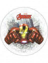 Tårtbild med Iron man från Avengers™