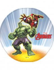 Tårtbild med Hulken & Iron Man™ från Avengers™
