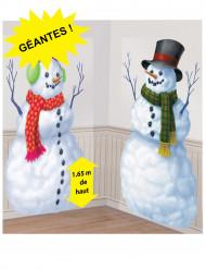 2 stora snöggubbar att dekorera väggen med till jul
