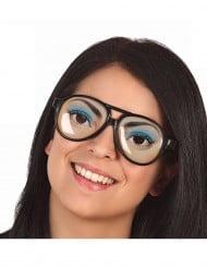 Glasögon med charmiga kvinnoögon